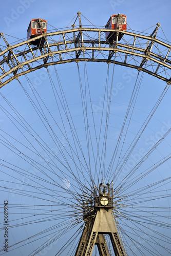 Historic ferris wheel of Vienna