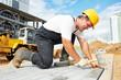 Leinwanddruck Bild - sidewalk pavement construction works