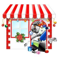 Natale Negozio Tecnologia-Technological Christmas Shopping Shop