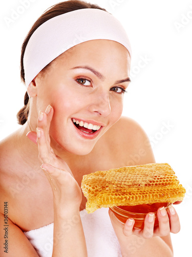 Natural homemade organic  facial masks of honey.