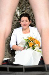 Groom's striptease in front of bride