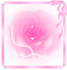 pink rose and pearl