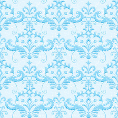 Light blue classic ornamental wallpaper for winter and christmas