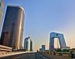 Modern architecture of Beijing on sunrise