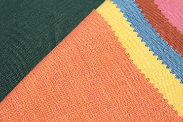 Multicolor fabric texture samples
