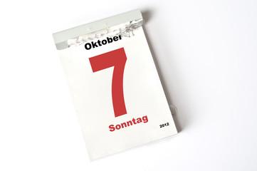 7. Oktober 2012
