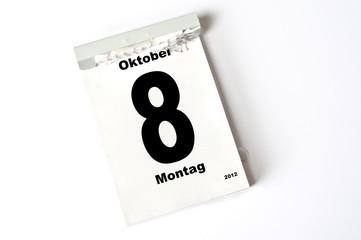 8. Oktober 2012