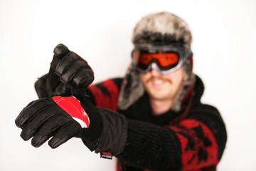 Boarder greift nach Handschuh