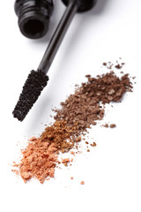 black mascara face powder beauty make up