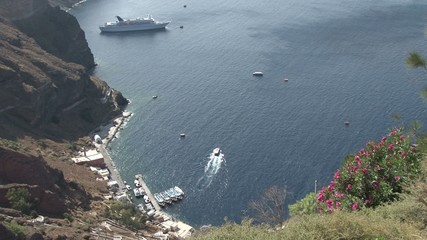 View over the Caldera of Santorini