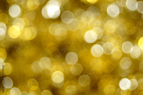 Abstract gold Christmas or holiday light background
