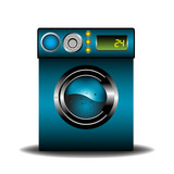 Blue washing machine
