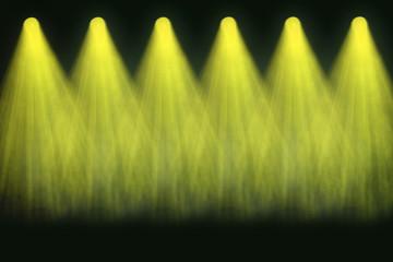 Gelbe Bühnenbeleuchtung