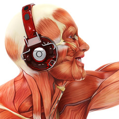 dj muscle man side face view
