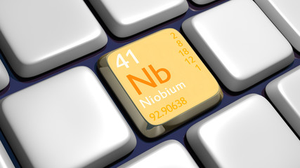 Keyboard (detail) with Niobium element