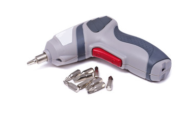 Electric screwdriver with different tips