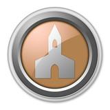 """Bronze 3D Style Button """"Chapel"""""""