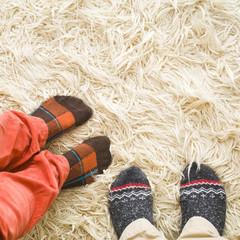 sock-feet