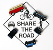Share the road, concept sign