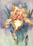 Watercolor Flower Collection: Iris