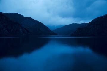 Sary Chelek lake in Kyrgyzstan, Night scene