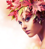 Fototapety Autumn Woman Fashion Makeup