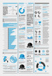 elements of infographics with the aircraft and icons