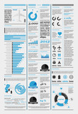 elements of infographics with the aircraft and icons poster
