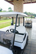 golf cart at club house
