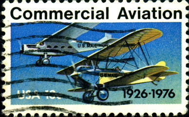 Commercial Aviation. 1926- 1976. US Postage.