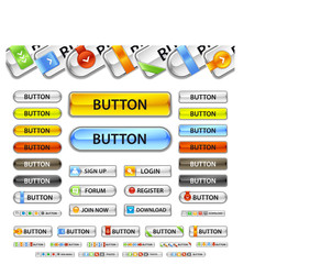 Metalic web button.