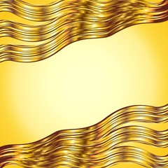 Astratto Onde Dorate Sfondo-Abstract Golden Wave Background