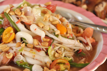 Papaya Salad Thailand Food Set