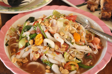 Papaya Salad Set Thailand Food
