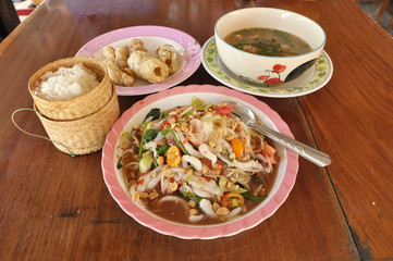 Papaya Salad Food Set Thailand