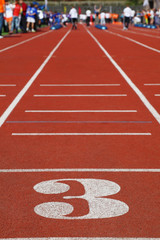 Running Track 3; perspective; special red cover for racing