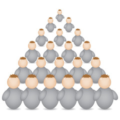 pyramid formation made of buddys