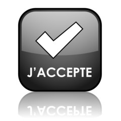 "Bouton Web ""J'ACCEPTE"" (signature conditions générales d'accord)"