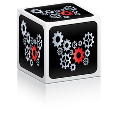industrial gears on box