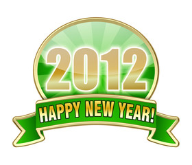 Happy New Year 2012 green