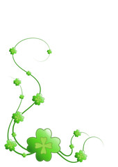 four-leaf clover on white background