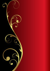 elegant vector background in red/gold/black