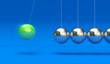 Kugelspiel grün blau