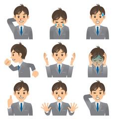 ビジネスマン A 表情2