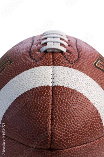 Closeup of football