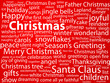 """CHRISTMAS"" Tag Cloud (happy merry tree santa claus greetings)"