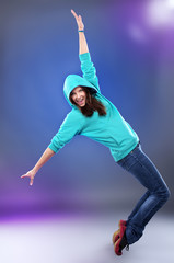 Hip-hop style female dancer