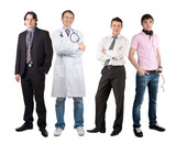 Four men of different professions poster