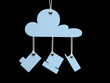 Cloud Computing Retro Symbole