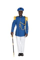 uniforme de cérémonie sur fond blanc